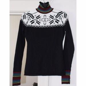 Obermeyer Fitted Turtleneck Ski Sweater, Black